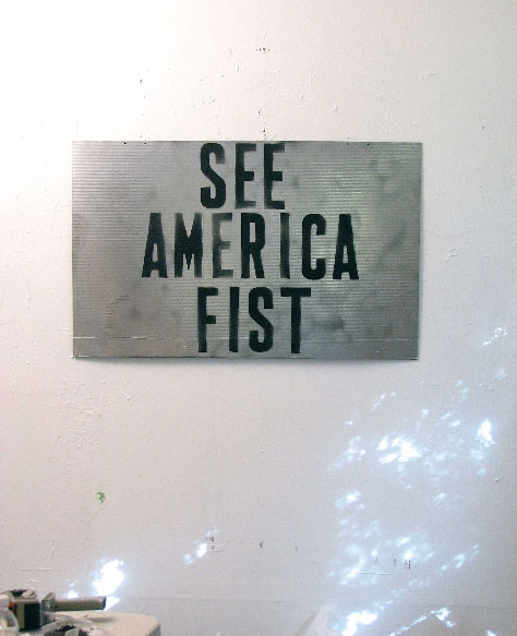 Mark Flood, See America Fist, 2009