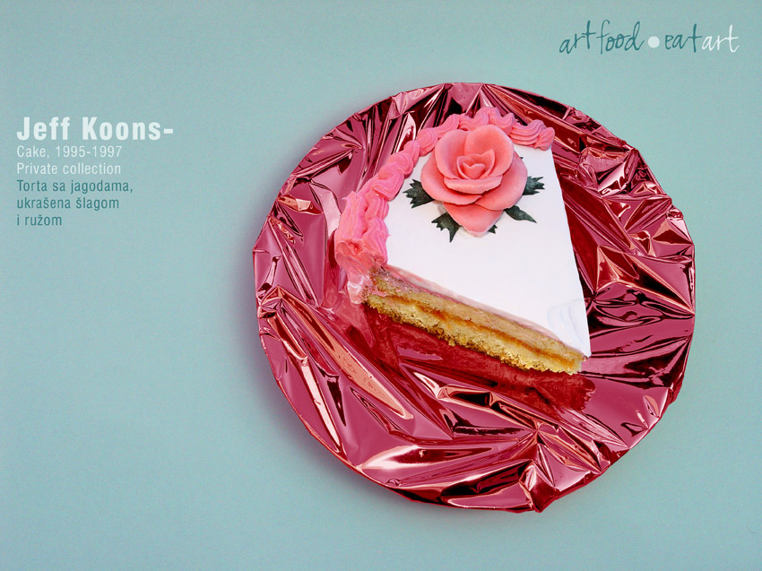 Marko Stojanovic, Jeff Koons - Cake, 2007 (Art Food - Eat Art series)