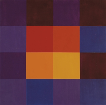 Max Bill, Stabilisierter Kern, 1962, oil on linen, 62x62cm