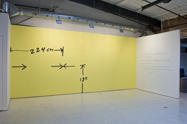 Micah Lexier, Measuring Arrow Piece (224 True), 2007
