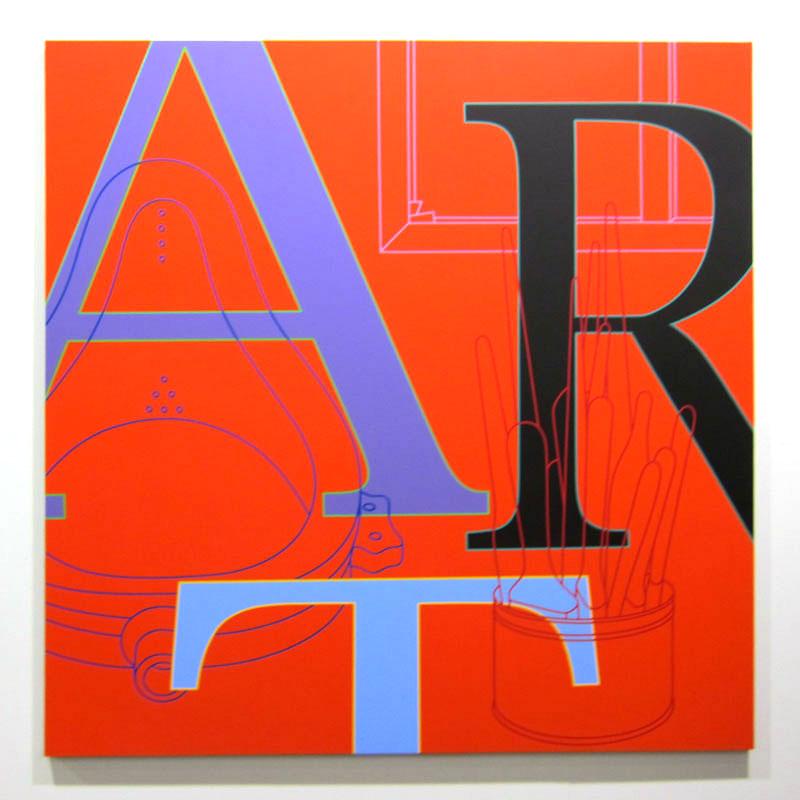 Michael Craig-Martin, Art (red), 2010