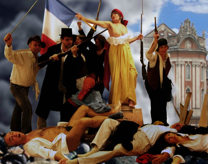 Michel Leveau, La liberté guidant le peuple, 2010