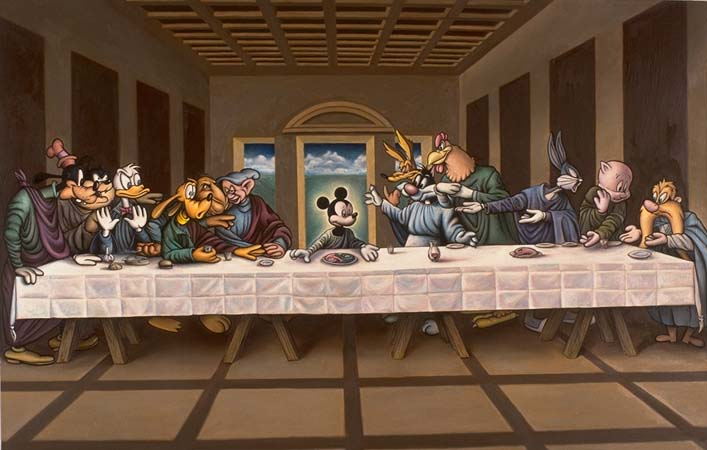 Mickey Mouse Last Supper