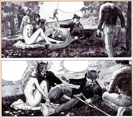 Milo Manara, in Giuseppe Bergman, 2005 (Manet)