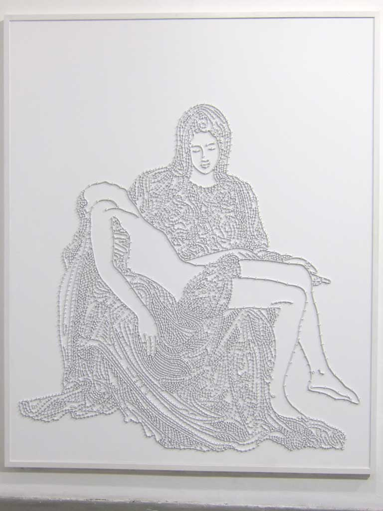 Mounir Fatmi, Bas-Relief La Pieta, 2009