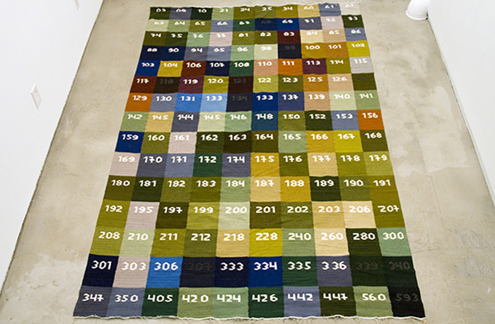 Mungo Thomson, Carpet Sample Rug, 2008