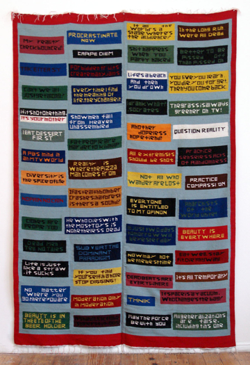 Mungo Thomson, Philosophy Rug #1, 2006