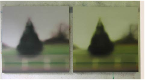 Nina Childress, Blurriness (Kodak tree) Blurriness (Agfa tree), 2000