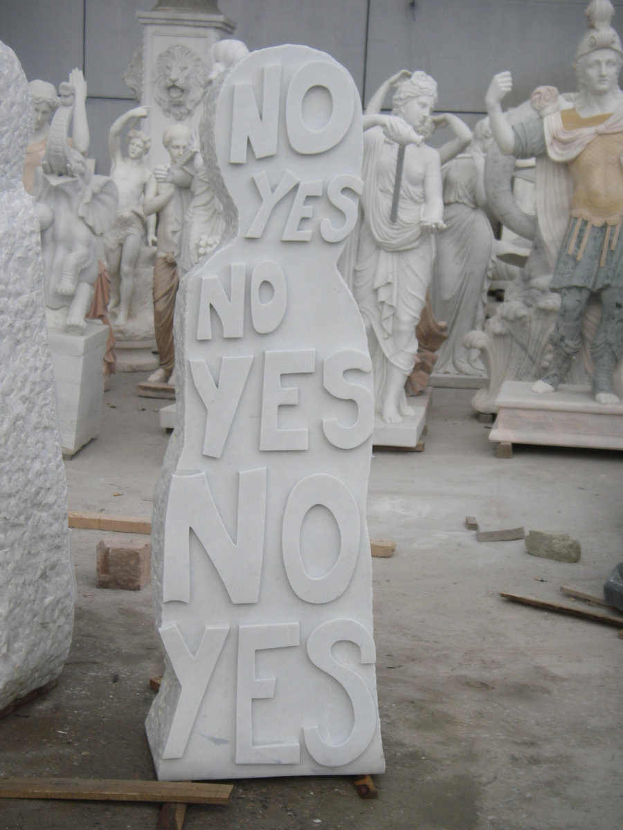 Olaf Breuning, Marble Sculpture, 2009