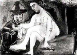 Pablo Picasso, Seated Nude and Another Figure, 1963