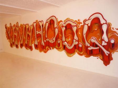 Patrick Guns, YHVH HOOQ, 2010 (collaboration with EYES-B)