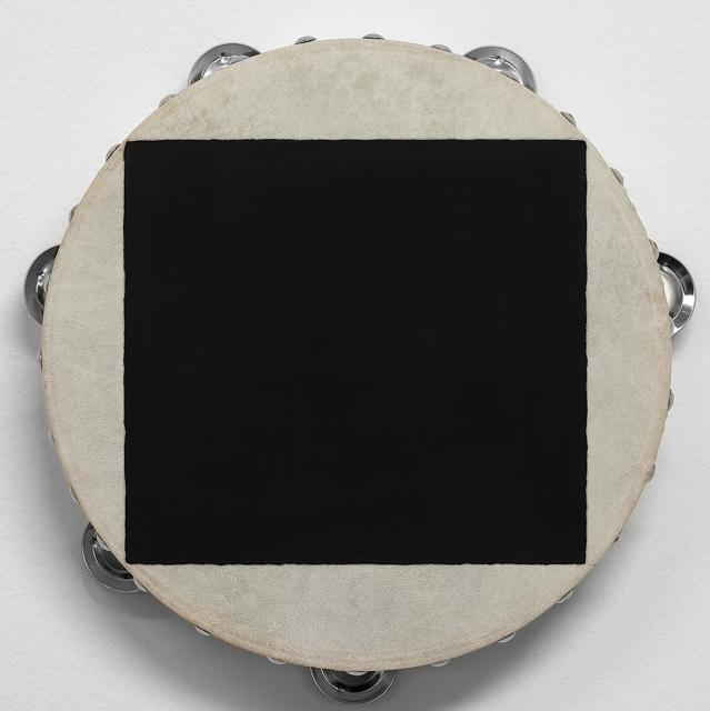 Paul Lee, Untitled (tambourine painting), 2008, sculpture – tambourine, house paint, 25.4 cm in diameter x 4.45 cm