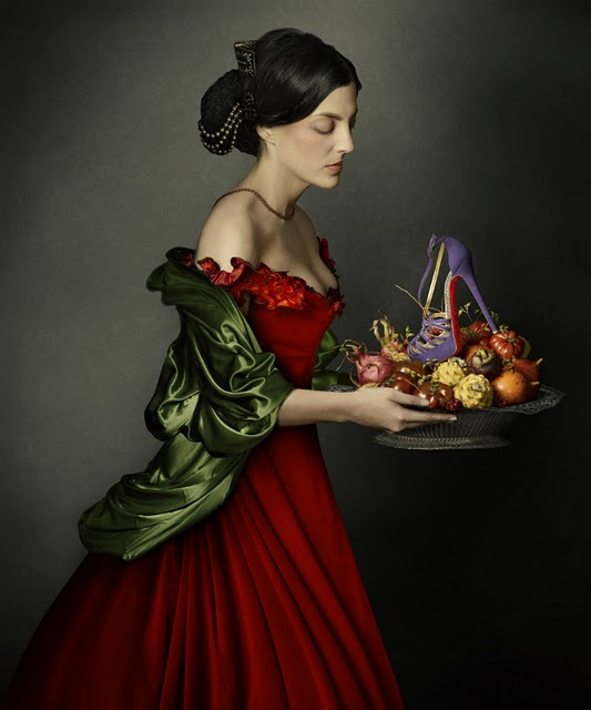 Peter Lippmann for Christian Louboutin, 8 Mignons Purple Sandals, fall-winter 2011-2012