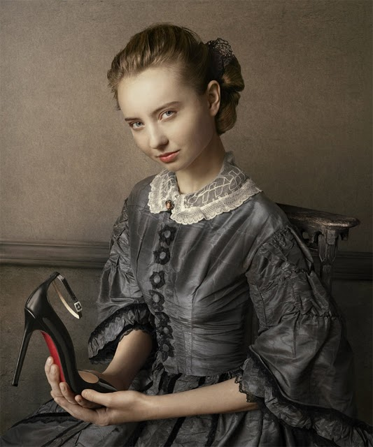 Peter Lippmann for Christian Louboutin, Halte Black Patent Shoe, fall-winter 2011-2012