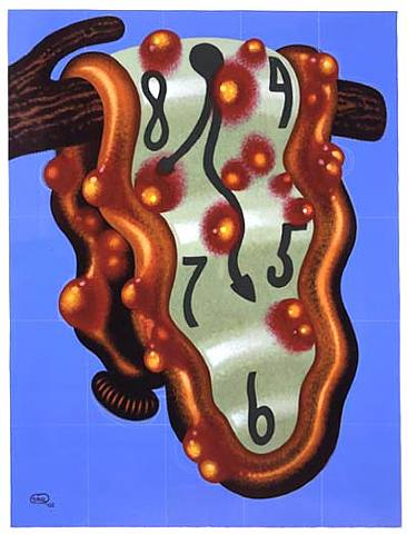 Peter Saul, Soft Watch with Acne, 2002