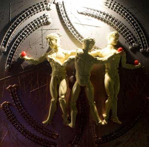 Philippe Camoisson, Les trois Grâces daprès Raphael, 2009, 50x50cm