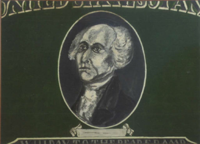 Phillip Hefferton, George Washington on a dollar bill, 1962