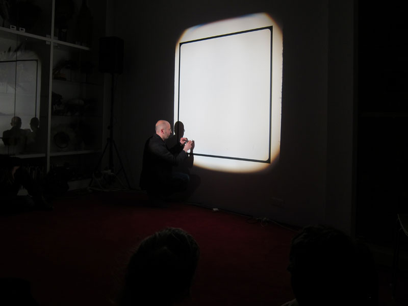 Pierre Leguillon, Non-Happening (after Ad Reinhardt), April 8th 2011, Maison Rouge, Paris
