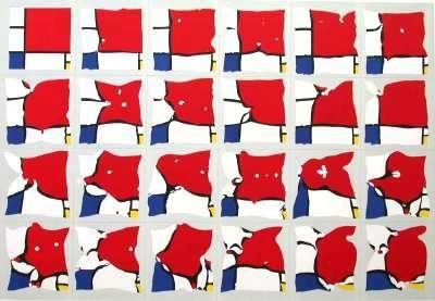 Pol Bury, Mondrian 23 ramollisements , 1982