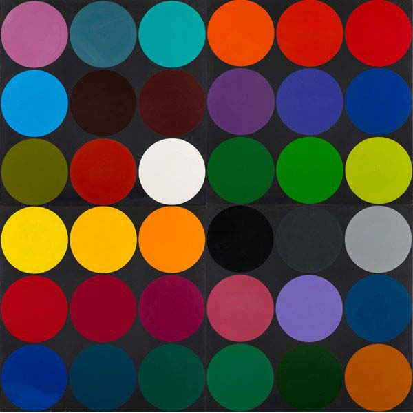 Poul Gernes, Untitled (Dot painting), 1968 Enamel paint on masonite 96.1 x 96.1 inches