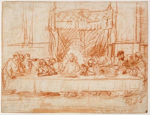 Rembrandt, The Last Supper, after Leonardo da Vinci, 1634-1635