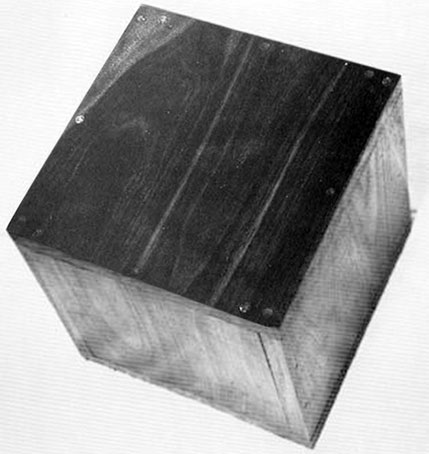 Robert Morris, Box with the Sound of its Own Making, 1961