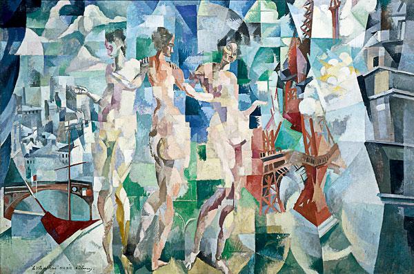 Robert Delaunay, La Ville de Paris, 1910-1912, Huile sur toile, 267x406 cm