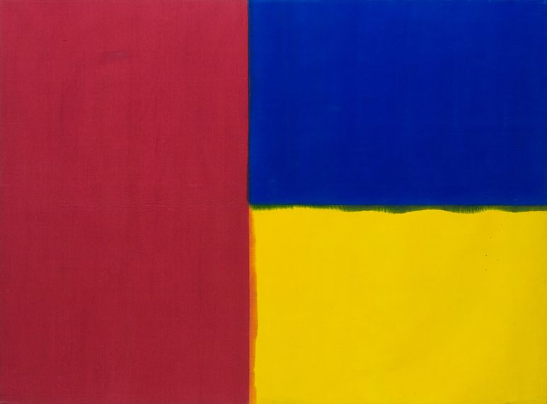 Robert Law, Yellow-Yellow, Ultrablue, Crimson Red, 1967