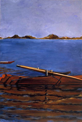 Sophie Matisse, John Biglin in a Single Scull, 2000