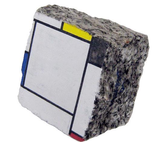 Stéphane Jaspert, Peinture sur Pavé de Paris daprès Piet Mondrian, Tableau 2