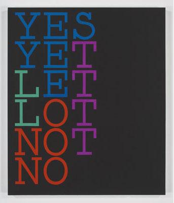 Tauba Auerbach, Yes-No, 2007