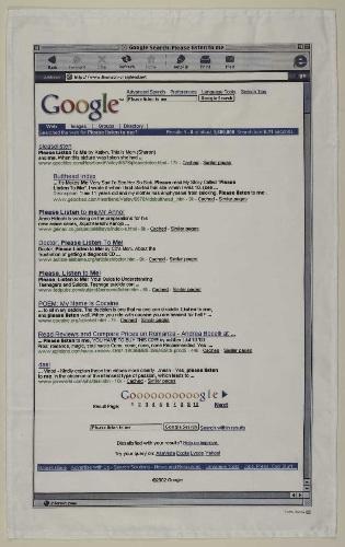 Thomson & Craighead, Google tea towels, 2002