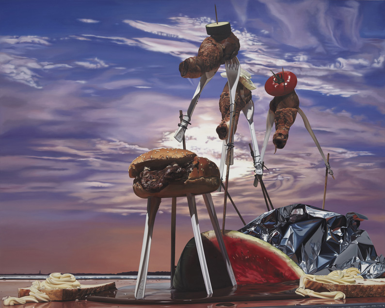 Till Rabus, Surrealist Camping Lunch n1, 2009