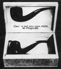 Timm Ulrichs, Ceci n est pas une pipe de Magritte, 1968