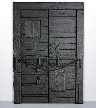 Ugo Rondinone, Fullblown Firmamental Fulfillment, 2008, wood, fittings, varnish, 114 x 79 x 7 in