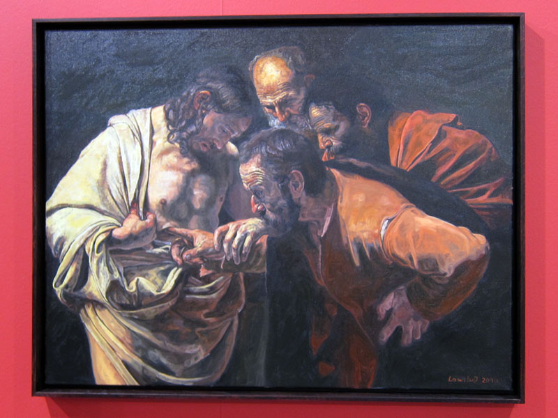 Ulrich Lamsfuss, Caravaggio, The Incredulity of Saint Thomas 1601-02, 30-03-2010, 2001