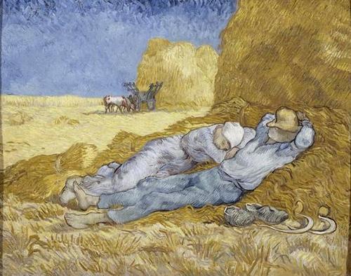 Vincent Van Gogh, La méridienne ou la sieste d'après Millet, 1889-1890