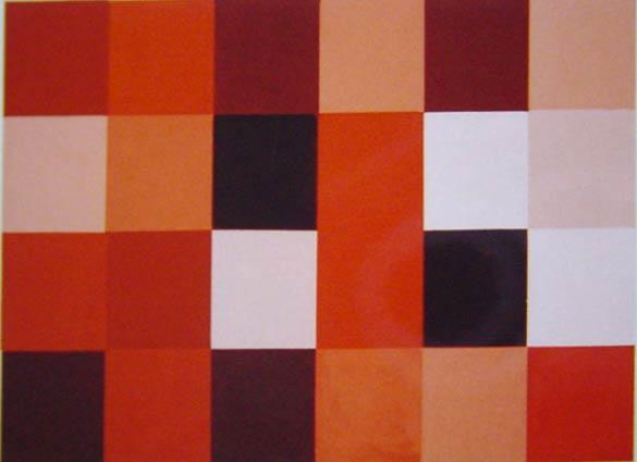 Vera Molnar, Rouge, 1959