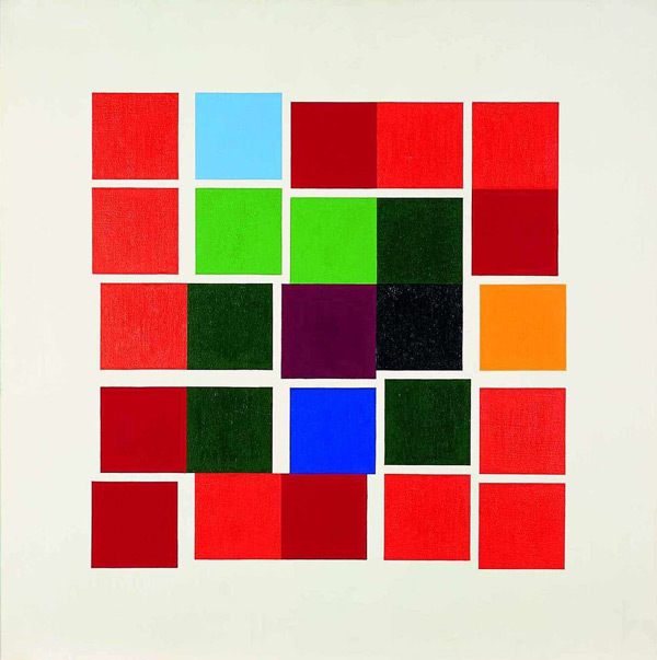 Verena Loewensberg, Untitled, 1957, oil on linen, 77x77cm