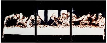 Vik Muniz, Last Supper (Pictures of Chocolate), 1998, tripych-Chromogenic print, 142.2 x 351.1 cm