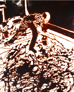 Vik Muniz, Action Photo, after Hans Namuth from Pictures of Chocolate, 1997