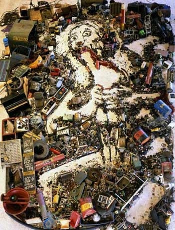 Vik Muniz, Saturn Devouring his Son, 2005, from the Pictures of Junk Series