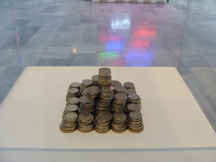 Vikenti  Komitski, My Budget For This Exhibition, 2009, coins