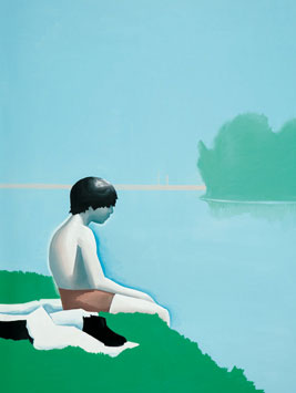 Wilhelm Sasnal. Bathers at Asnieres. 2010. Oil on canvas
