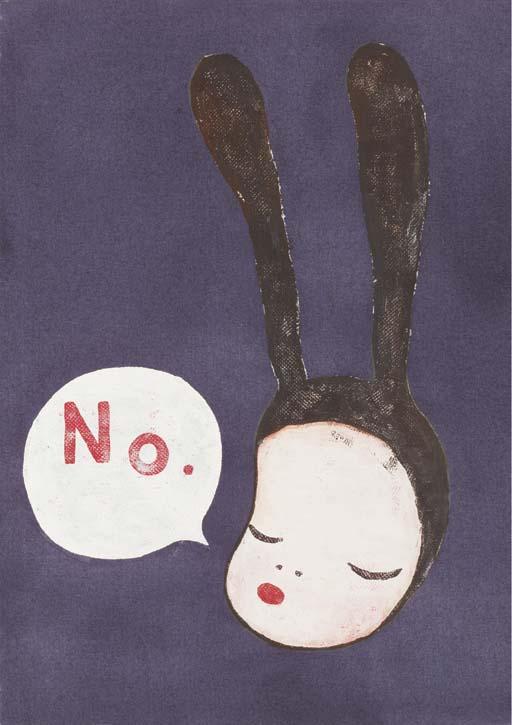 Yoshitomo Nara, Little Black Bunny, 1996