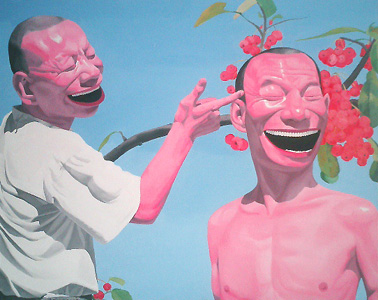 Yue Minjun, Cherries, 2003