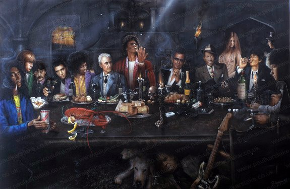 rock icons Last Supper
