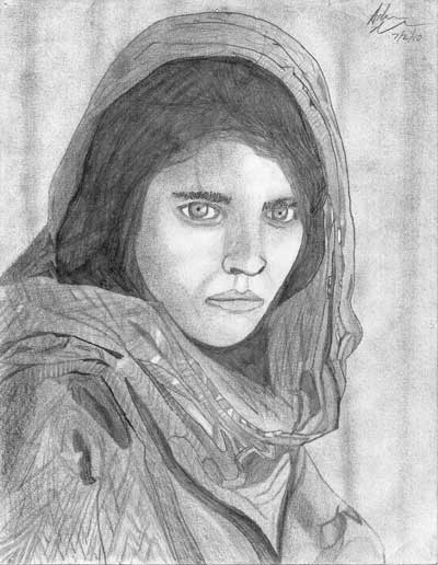 Adam Maikkula, 'National Geographic's 'Afghan Girl' cover, 2010