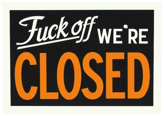 Adam McEwen, 'Untitled (Closed),' 2003 , Flashe on paper, 28.3 x 40 cm