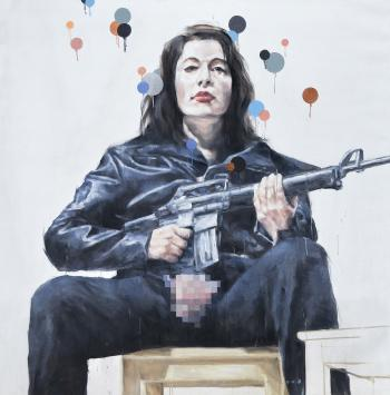 Agus Suwage, 'Homage to Marina Abramovic,' 2008, oil on canvas, 200 x 200 cm